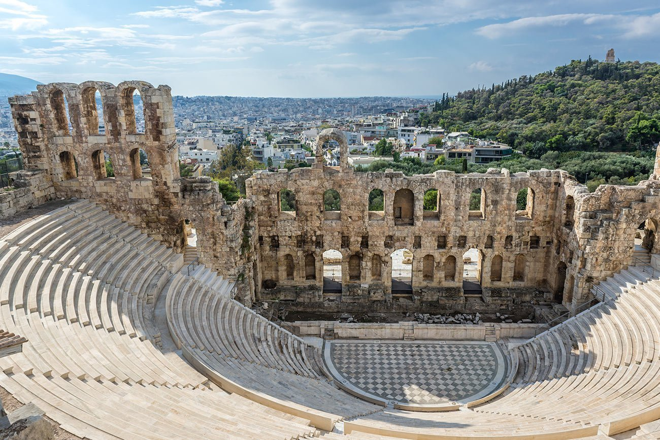 Athens. Odeon of Herodes Atticus.