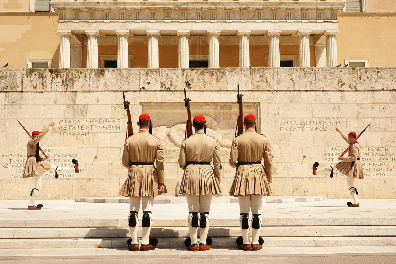 Athens. The Tomb of the Unknown Soldier.