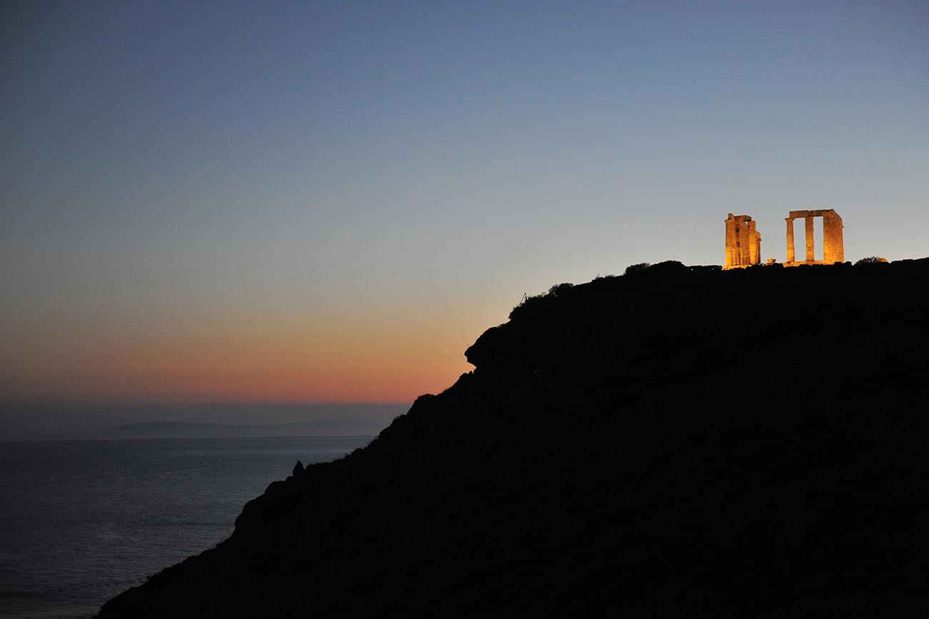 Sounio. Temple of Poseidon. ©Greek National Tourism Organization. Photo by Y Skoulas.