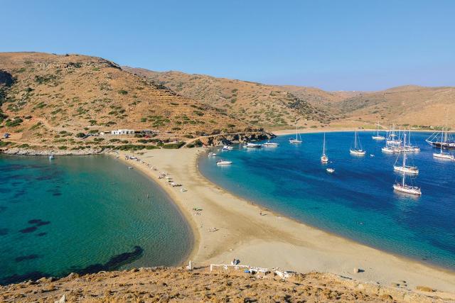 Kythnos. Kolones beach.