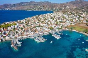 Aegina. Perdika airview.