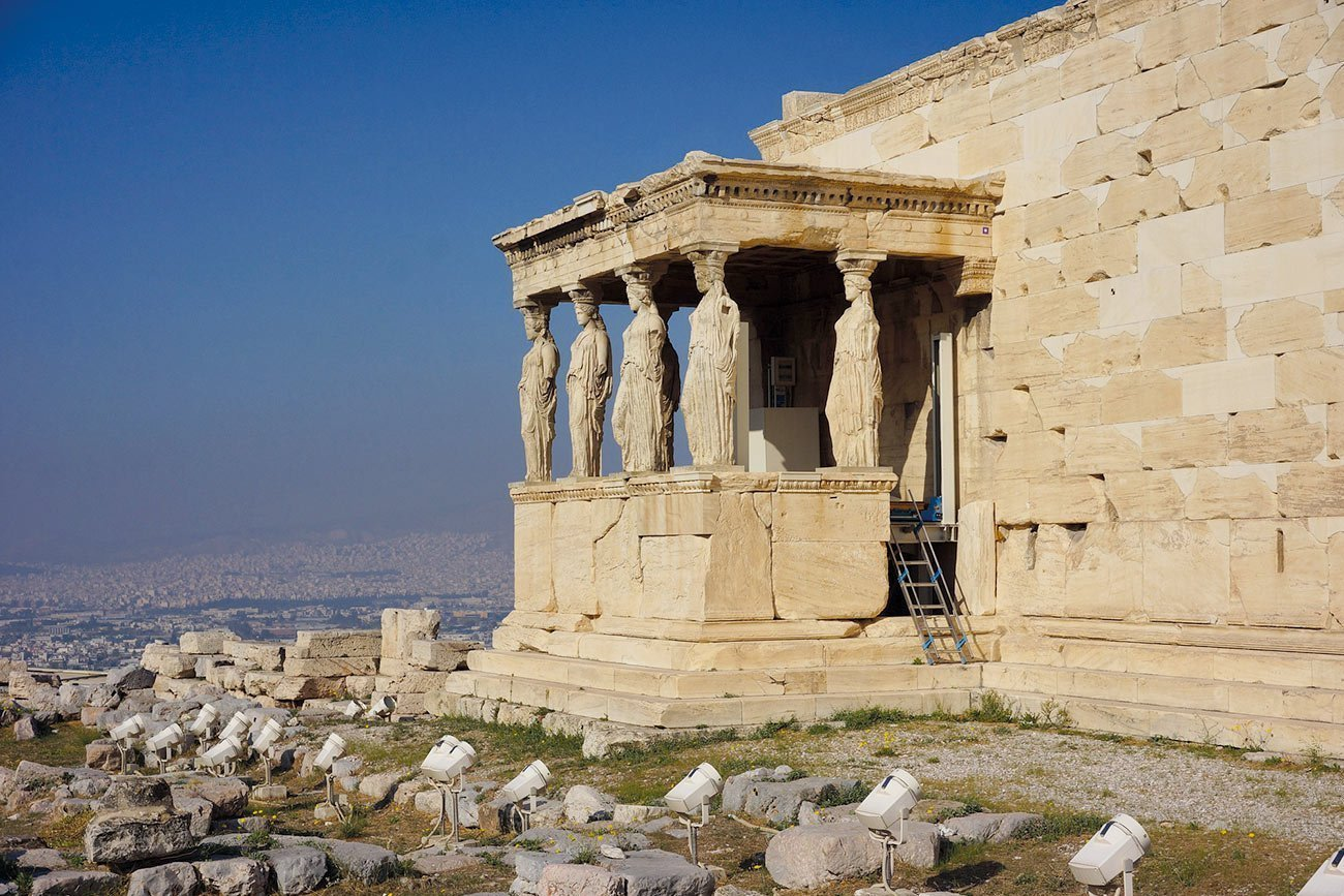 Athens. The Acropolis Erechtheion.