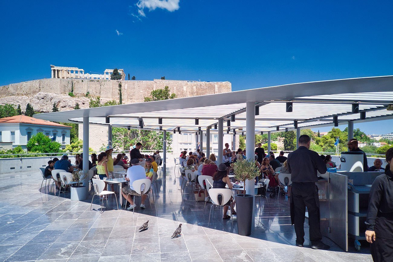 Athens. The Acropolis museum restaurant.