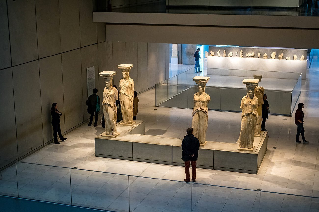 Athens. The Caryatids in the Acropolis museum.