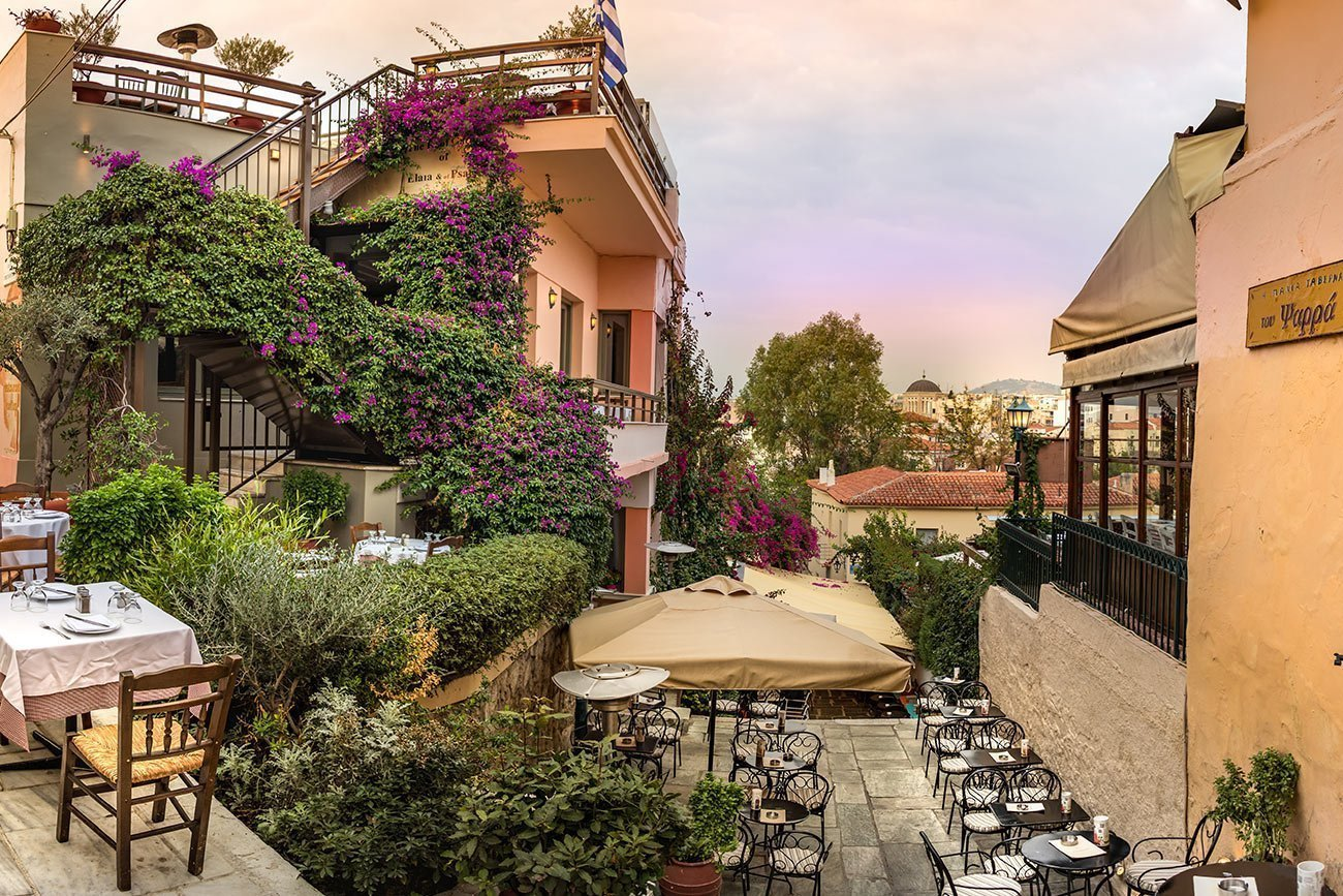 Athens. Taverna in Plaka.