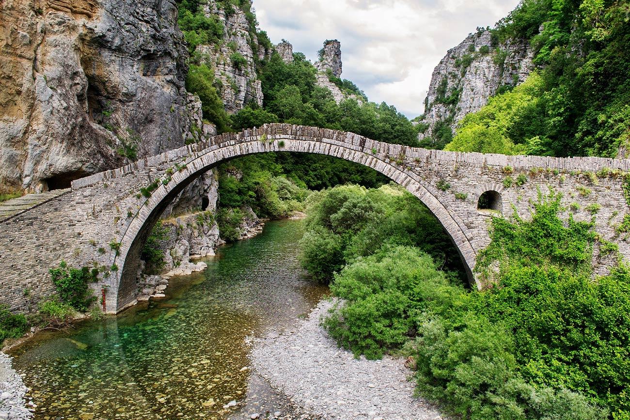 Ioannina area. Old bridge.