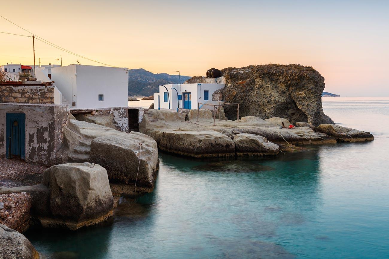 Kimolos. Boat house.