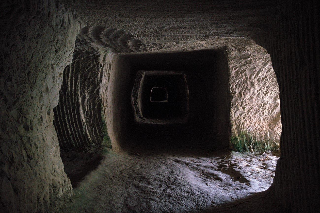 Milos. Mining cave.