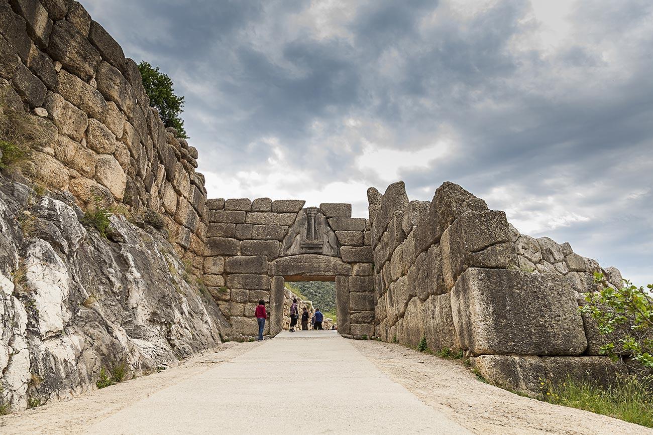 Mycenae. The Lion gate.