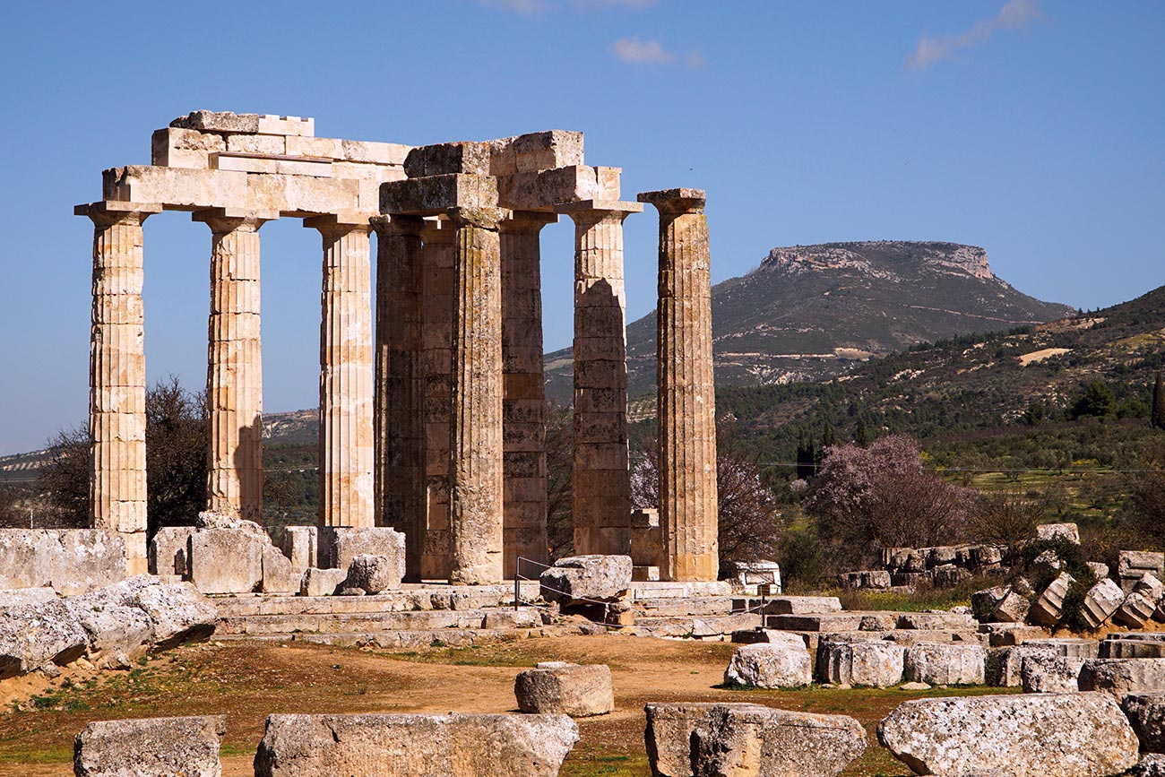 Nemea. Ancient temple of Zeus.