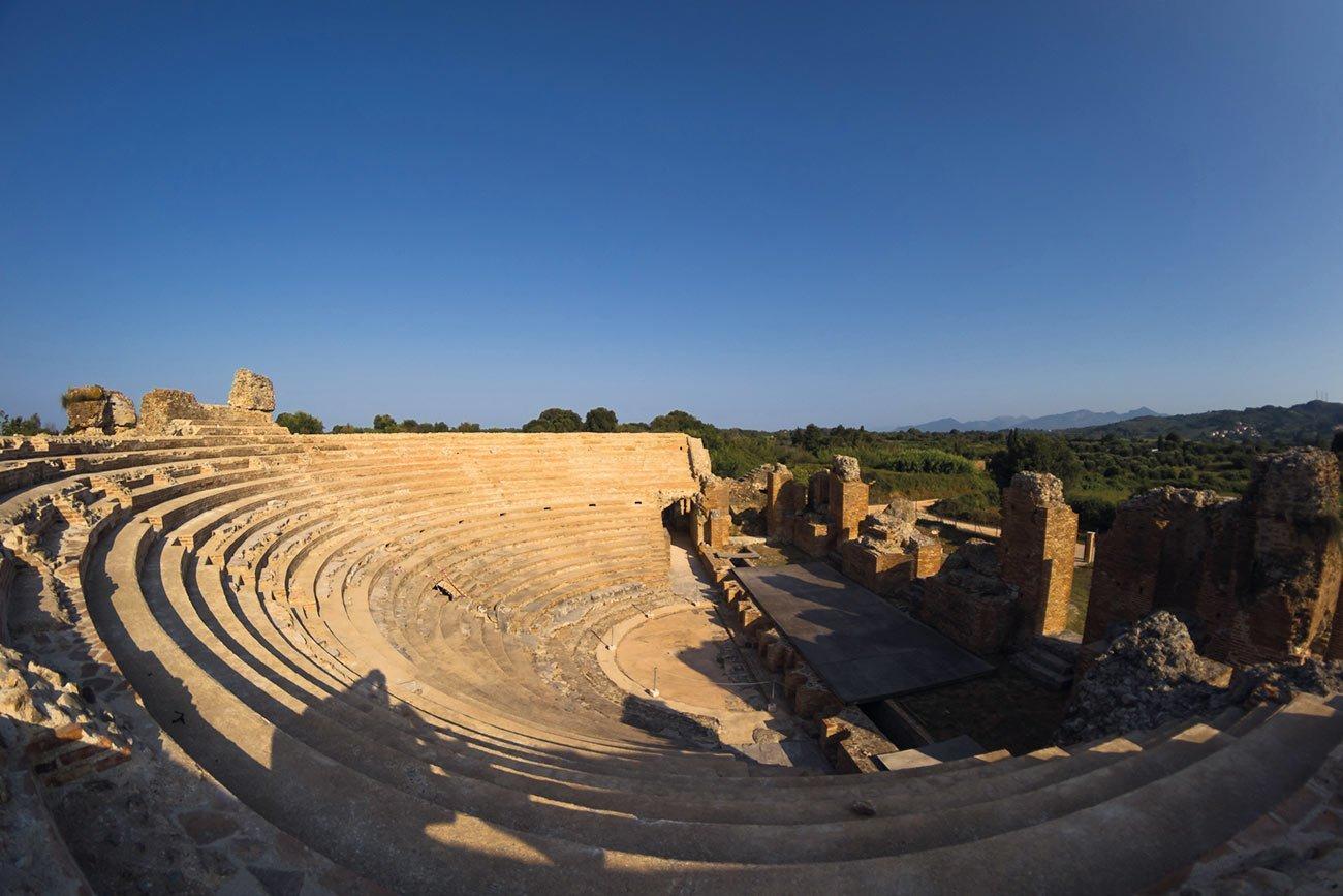 Nikopolis. Ancient roman odeon.