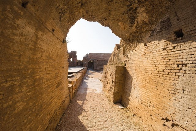 Nikopolis. In ancient roman odeon.