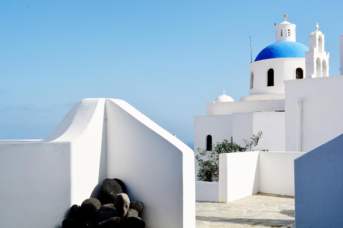 Paros. Cycladic architecture church.