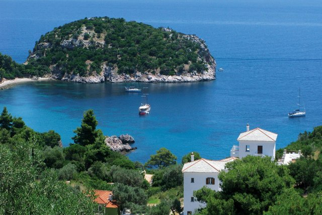 Skopelos. Stafylos beach.