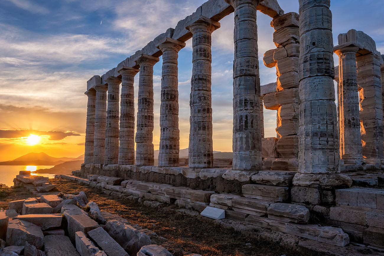 Sounion. Temple of Poseidon.