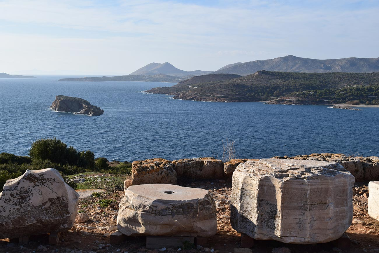 Sounion. View from the Temple of Poseidon.