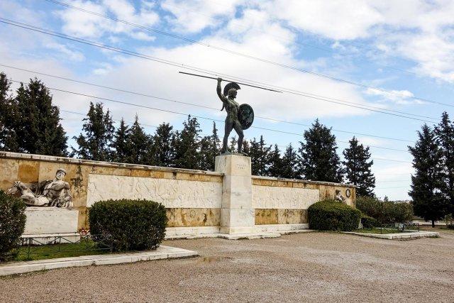 Thermopylae. The statue of Leonidas.