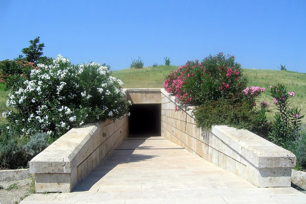 Vergina. Entrance of the Royal Tombs.