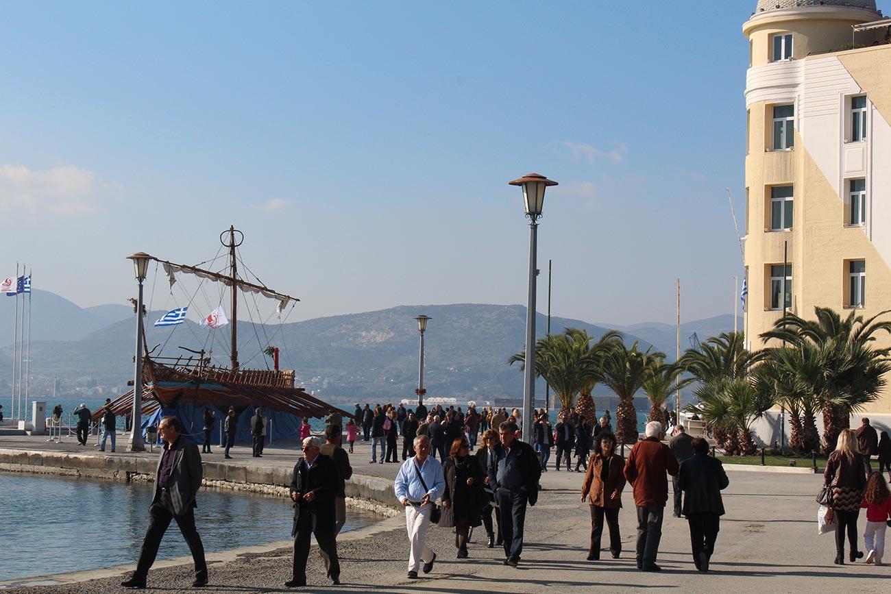 Volos port area