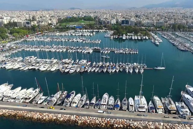 Athens. The Alimos marina.
