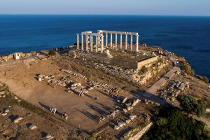 Sounio. View of the Temple of Poseidon.