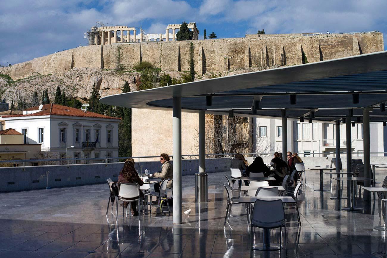 Athens Acropolis Museum cafe