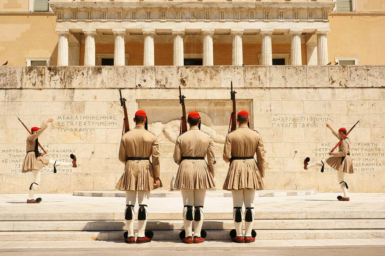 Athens Parliament The uknown soldier monument