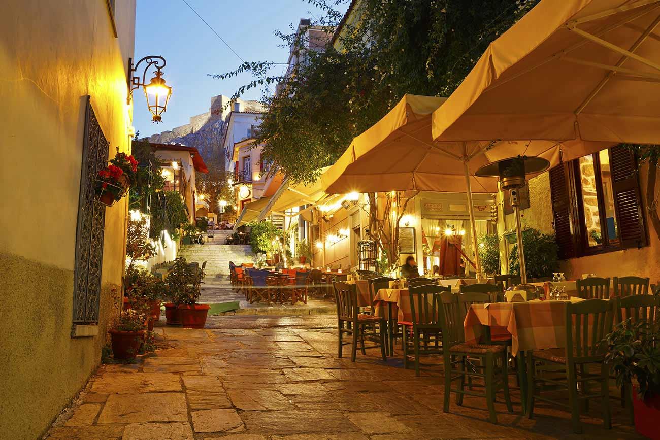 Athens street in Plaka