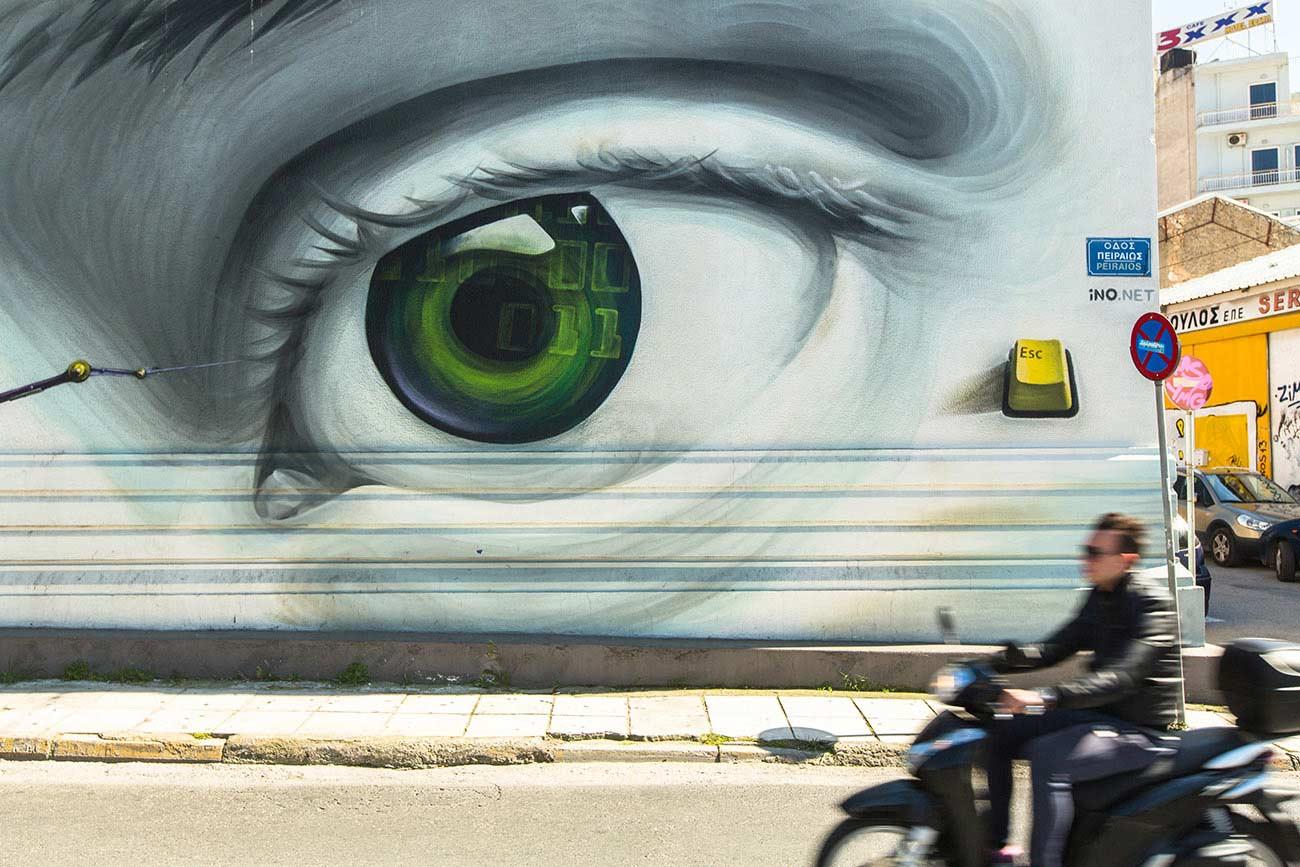 Athens. Graffiti in Peiraios Str.