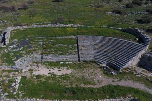 Attica. Thoriko. The ancient theater.